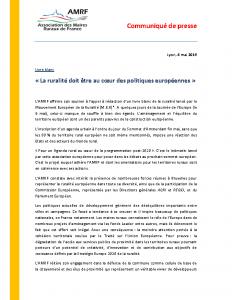 04-05 Livre blanc : Ruralité au coeur des politiques européennes