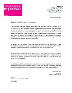 31-03 Excuses ministérielles envers la Guyane