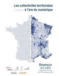 Les collectivités territoriales   Colloque à l'ère du numérique