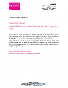 Grand Débat – Accueil du Président dans l'Indre