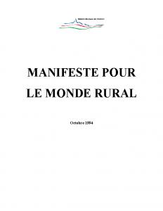 Manifeste pour le monde rural 1994 – RV (2)