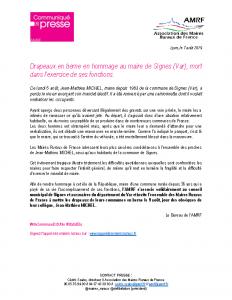 07082019 – CP Décès maire de Signes