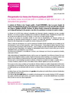 Réorganisation DGFiP
