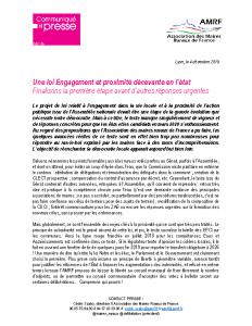 Loi Engagement et Proximité – Avant CMP