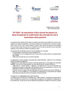 CP commun PLF 2020