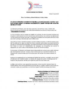 200506 – ParlementRural – ContributionPlantourisme