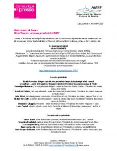 201114 – CP Michel Fournier nouveau président de l'AMRF