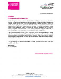 201202 – CP Dotations En route vers l'égalité urbain rural