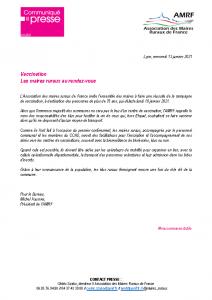 210113 – CP Vaccination les maires ruraux au rdv